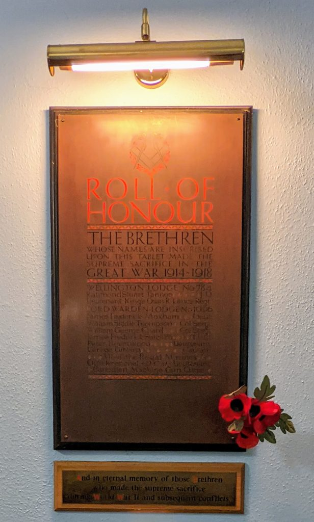 Roll of Honour Sondes Road Temple